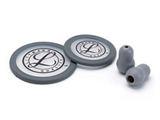 Show details for  LITTMANN KIT 40017: 2 DIAPHRAGMS+RIM+EARTIPS for ClassicI III, Cardiology IV - grey - blister