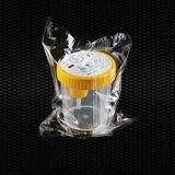 """Vairāk informācijas par """"SEKUR TAINER"""" ® polipropilēna urīna trauks, graduēts 120 ml ar dzeltenu skrūvējamu vāciņu ar paraugu ņemšanas ierīci vakuuma mēģenēm, atsevišķi iesaiņotas STERILE R 100gb"""