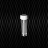 Show details for Polypropylene cylindrical test tube 16x58 mm 5 ml graduated, white screw cap, skirted with frosted label 100pcs