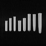 Vairāk informācijas par Polipropilēna cilindriska mēģene 12x56 mm 3 ml ar graduētu plakanu dibenu 100gb