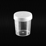 Show details for Transparent polypropylene urine container 120 ml with white screw cap 100pcs