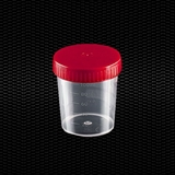 Show details for Transparent polypropylene urine container 120 ml with red screw cap 100pcs