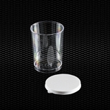Show details for Polystyrene urine container 150 ml with separated white press-on cap 100pcs