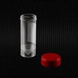 Показать информацию о Прозрачный полипропиленовый контейнер для мочи 30 мл с красной крышкой 100шт