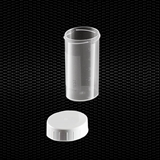 Show details for Transparent polypropylene universal container 60 ml with separated white screw cap 100pcs