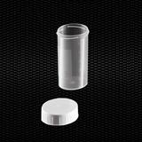 Показать информацию о Прозрачный полипропиленовый универсальный контейнер 60 мл с  белой крышкой 100шт