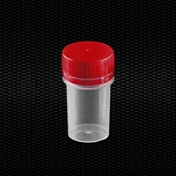 Show details for Polypropylene universal container 50 ml with red screw cap with tamper evident ring 100pcs
