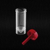 Vairāk informācijas par Polipropilēna fekāliju trauks 30 ml 27x80 mm ar sarkanu vāciņu 100gb