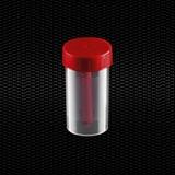 Vairāk informācijas par Polipropilēna fekāliju trauks 60 ml 35x70 mm ar sarkanu vāciņu Sterils R 100gb