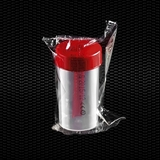 Show details for Polypropylene faeces container 60 ml 35x70 mm with red screw inserted cap individually wrapped 100pcs