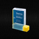 "Show details for MENZEL ""SUPERFROST""® yellow microscope slides 26x76 mm bevelled edges, 45° corner and frosted end 100pcs"