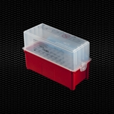 Show details for Stockable test tubes container with airtights lid and test tubes rack of 40 places for swabs and tubes Ø 13mm and Ø 16mm with paper towels 1pcs