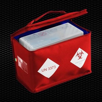 """Picture of """"BIO BAG"""" Sarkana zotermiska soma paraugu pārvadāšanai, izmēri 27x15x20 cm, 8,1Lt tilp. 1 tvertnei 1 gab"""