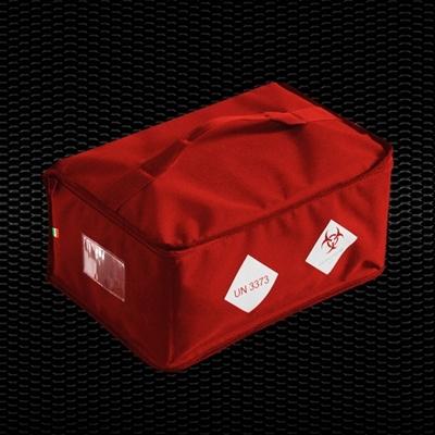 """Picture of """"BIO BAG"""" Sarkana izotermiska soma paraugu pārvadāšanai ar plecu jostu, izmēri 45x27x40 cm, tilpums 46 Lt 6 konteineriem 1gab"""