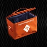Vairāk informācijas par Oranžs izotermiska soma ķīmijterapijas zāļu pārvadāšanai, izmēri 27x15x20 cm, 8,1 tilp. 1gab
