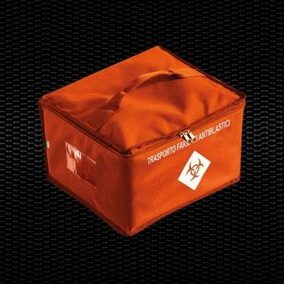 Picture of Oranžs izotermisa soma ķīmijterapijas zāļu pārvadāšanai, izmēri 30x27x20 cm, 16.8 Lt tilpums 1 gab