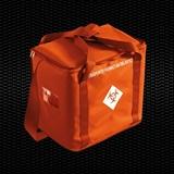 Show details for Orange isothermal bag with shoulder belt for the transport of chemotherapy drugs, dimensions 45x27x40 cm, 46 Lt vol. 1pcs