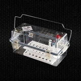 """Show details for Polycarbonate autoclavable """"Safety Box"""" container for biological samples transport, dim. 330x175x180h mm equipped with folding handle and safety fastenings 1pcs"""