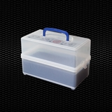 Show details for Stockable test tubes container with airtights lid and test tubes rack of 78 palces for tubes Ø 13mm and Ø 16mm with paper towels 1pcs
