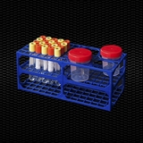 Show details for Double rack for nr. 84 test tubes or for nr. 42 test tubes and nr. 4 urine containers 120 ml 1pcs