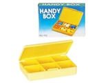 Show details for DAILY HANDY PILL BOX - yellow, 1 pc.