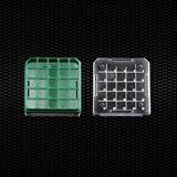 Показать информацию о Поликарбонатная морозильная стойка для хранения криопробирок до 25 мест зеленого цвета 48шт.