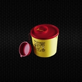 Show details for 	2 lt round disposable safety container for needles and cutting refusals with lid 100pcs