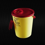 Show details for 	12 lt round disposable safety container for needles and cutting refusals with lid 100pcs