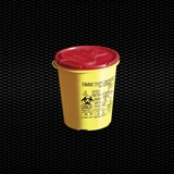 Show details for 1,5 lt round disposable safety container for needles and dangerous refusal with cover plate 100pcs