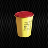 Show details for 2 lt round disposable safety container for needles and dangerous refusal with cover plate 100pcs