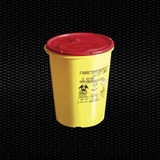 Show details for 3 lt round disposable safety container for needles and dangerous refusal with cover plate 100pcs