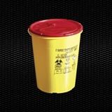 Show details for 4 lt round disposable safety container for needles and dangerous refusal with cover plate 100pcs