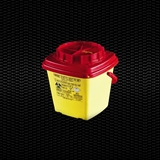 Show details for 5 lt square and short form dispos. safety container for needles and dangerous refusals with turning cap 100pcs