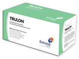 Show details for TRULON NON ABSORB. SUTURE gauge 3/0 circle 3/8 needle 20 mm - 45 cm - blue, 12 pcs.