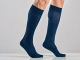 Show details for UNISEX COTTON SOCKS - XXL - strong compression - blue (pair)