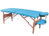 Show details for  2-SECTION WOODEN MASSAGE TABLE - turquoise 1pcs