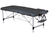Show details for 2-SECTION ALUMINIUM MASSAGE TABLE - black 1pcs