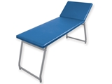 Show details for  EXAMINATION COUCH - chromed, blue mattress 1pcs