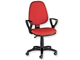Show details for  CUNEO CHAIR with armrest - fabric - red 1pcs