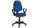 Show details for  CUNEO CHAIR with armrest - leatherette - blue 1pcs