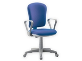 Show details for  VARESE CHAIR with armrest - fabric - blue 1pcs