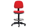 Show details for  STOOL with backrest and ring- red 1pcs