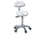 Show details for  STOOL with backrest - white 1pcs