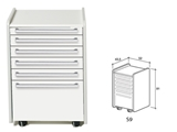 Show details for DRAWER S9 - white 1pcs