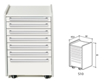 Show details for  DRAWER S10 - white 1pcs