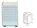 Show details for DRAWER S10 - light blue 1pcs