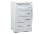 Show details for  MOBILE UNIT GE416 4 drawers 49 cm - white 1pcs