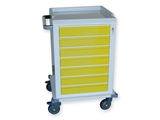 Show details for MODULAR TROLLEY painted steel with 7 small drawers 1pcs