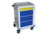 Show details for  MODULAR TROLLEY painted steel with 1+3 drawers 1pcs