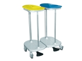 Show details for BAG HOLDER TROLLEY foot operated - 2 bags 1pcs